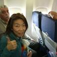機内で知り合った女性
